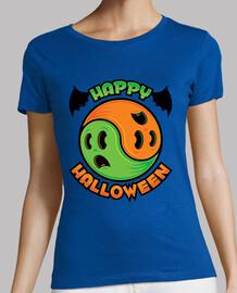 joyeux halloween fantôme yin-yang