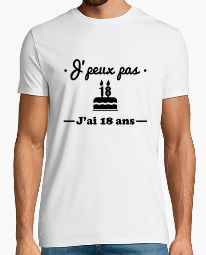 Tee-shirt J'peux pas j'ai 18 ans cadeau d'annivers