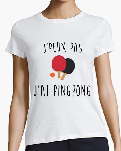 Tee-shirt j'peux pas j'ai ping pong