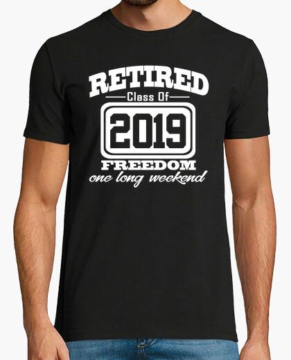 Camiseta jubilado, clase, 2019, libertad, largo, weeke