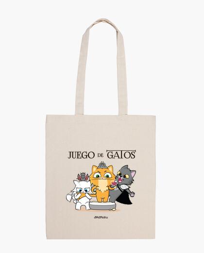 Juego de Tronos con Gatos, Negro, bolsa