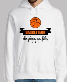 jugador de baloncesto de padre a hijo