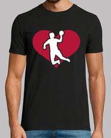 jugador de balonmano corazon