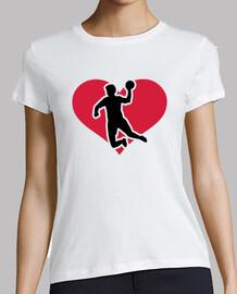 jugador de balonmano del corazón
