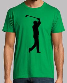 jugador de golf columpio