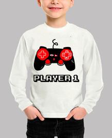 jugador uno geek juegos gamern nerd