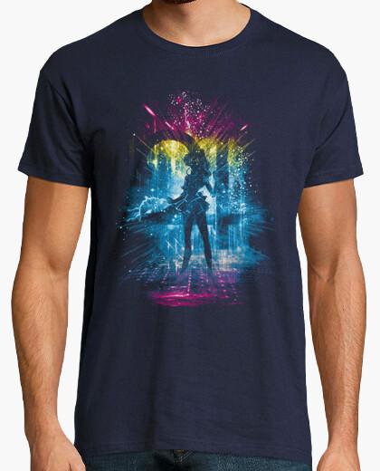 Camiseta júpiter versión de la tormenta-arco iris