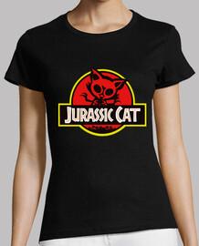 Jurassic Cat. Manga cota negra chica.