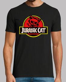 Jurassic Cat. Manga cota negra chico.