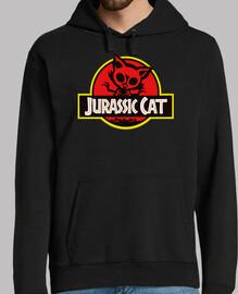 Jurassic Cat. Sudadera negra chico.