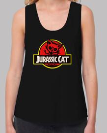 Jurassic Cat. Tirantes anchos negra chica.