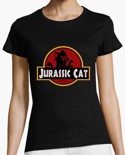 Camiseta Jurassic Park Cat parodia gato pelicula