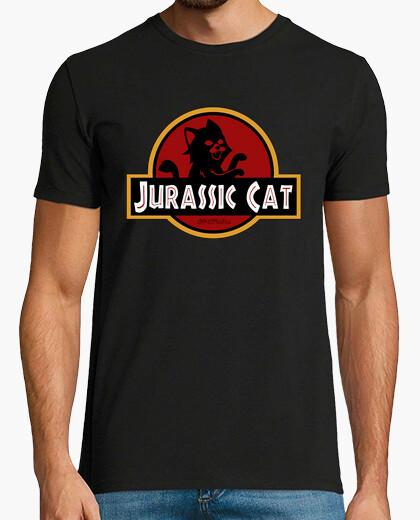 Tee-shirt jurassic park chat parodie chat film homme