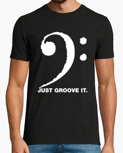 Camiseta Just Groove it (clave de fa)