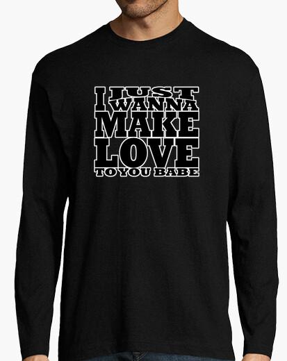 Camiseta JUST WANNA MAKE LOVE black