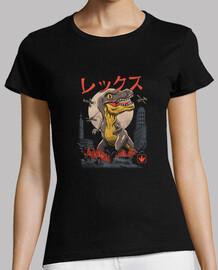 kaiju chemise t-rex femme