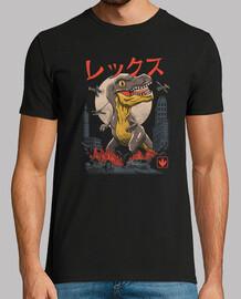 kaiju chemise t-rex hommes