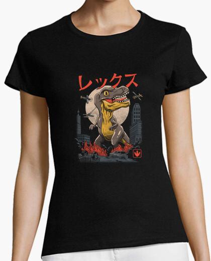Kaiju t-rex camiseta para mujer