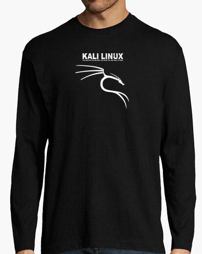 Camiseta Kali linux logo blanco