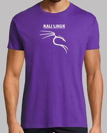 kali linux logo white. lilac shirt