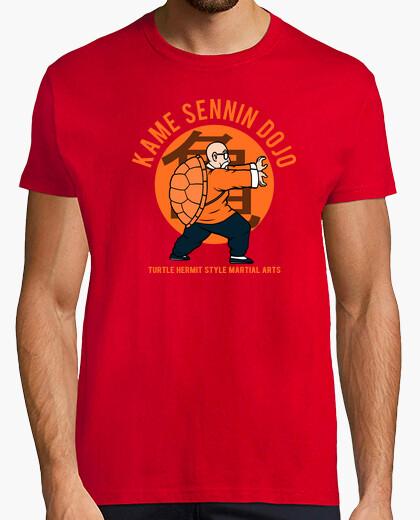 Camiseta kame camisa dojo - mens rojo
