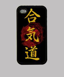 Kanji aikido dorado