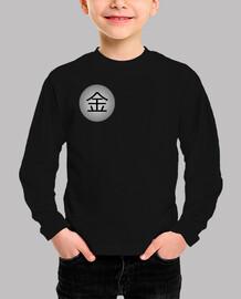 Kanji (Dinero)La camiseta de manga larga, para los pequeños de la casa