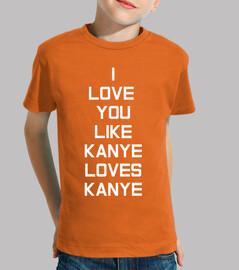 kanye amour enfant blanc, orange