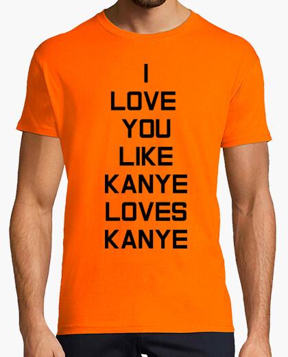 Camiseta Kanye Love Hombre, naranja