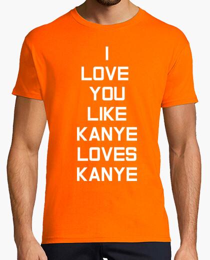 Camiseta Kanye Love White Hombre, naranja