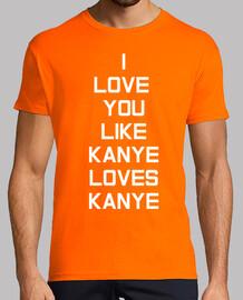 Kanye Love White Hombre, naranja