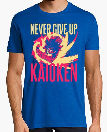 Camiseta Kaoiken - Never Give Up - Dragon Ball - Son Goku (Hombre, Manga Corta)