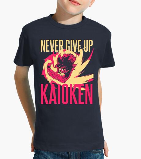 Ropa infantil Kaoiken - Never Give Up - Dragon Ball - Son Goku (Niño, Manga Corta)