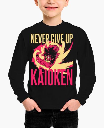 Ropa infantil Kaoiken - Never Give Up - Dragon Ball - Son Goku (Niño, Manga Larga)