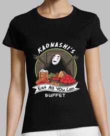 kaonashis comen todo lo que puede buffet de la camisa de mujer