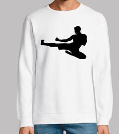 Karate-Sprungtritt