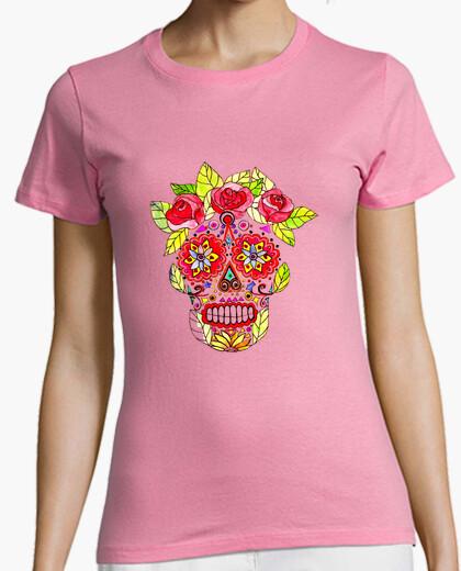 Camiseta KATRINA MEXICO manga corta rosa chica