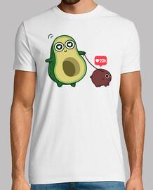kawaii avocado con cane