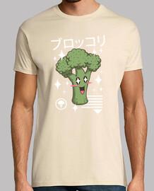 kawaii broccoli camiseta para hombre