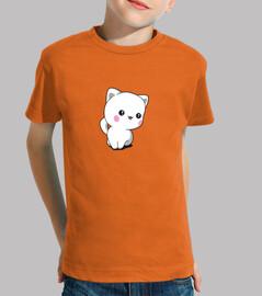 kawaii cat chibi funny kids t-shirt