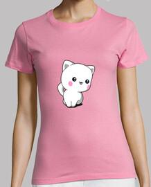 kawaii chat chibi drôle femmes t-shirt