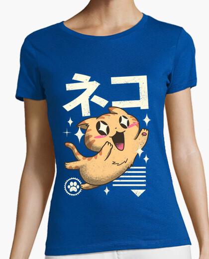 Tee-shirt kawaii chemise feline femmes