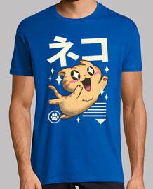 kawaii chemise feline hommes