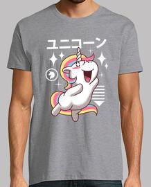 kawaii chemise licorne hommes