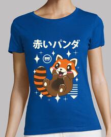 kawaii chemise rouge panda femme