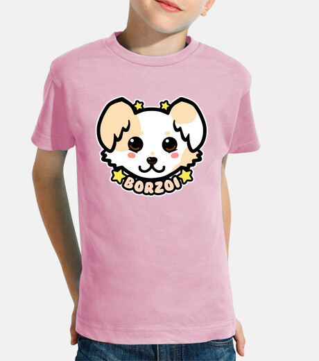 KAWAII Chibi Borzoi Dog Face - Kids Shirt