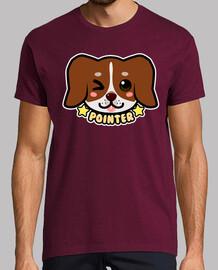 kawaii chibi pointer dog face - mens shirt