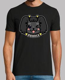 kawaii chibi poodle dog face - mens shirt