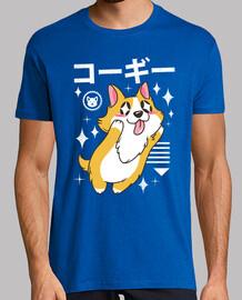 kawaii corgi chemise homme