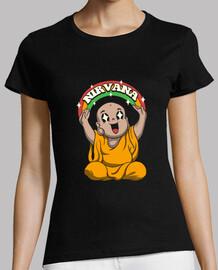 kawaii es para mujer nirvana camisa